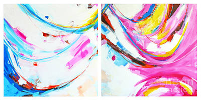 Entangled No. 8 - Diptych - Abstract Painting Poster by Patricia Awapara
