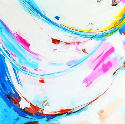 Entangled No. 8 - Left Side - Abstract Painting Poster