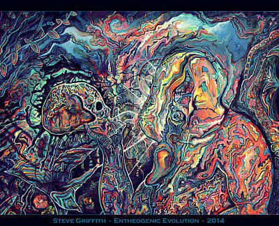 Entheogenic Evolution Poster by Steve Griffith