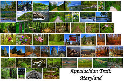 Entire Maryland Section Of The Appalachian Trail Poster by Raymond Salani III