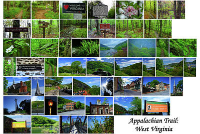 Entire West Virginia Section Of The Appalachian Trail Poster by Raymond Salani III