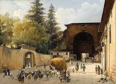 Entrance Of The Boboli Gardens In Florence 1835 Poster