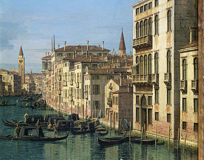 Entrance To The Grand Canal Looking West Poster by Canaletto