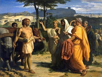 Envoys Of The Senate Offer The Dictatorship To Cincinnatus  Poster