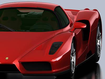Enzo Ferrari Rojo Poster