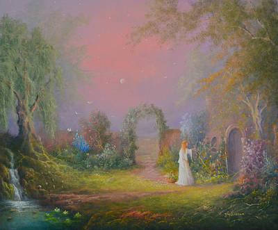 Eowyn In The Garden Of Healing Poster by Joe  Gilronan
