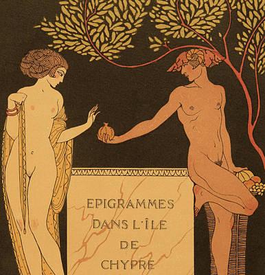 Epigrammes Dans L'ile De Chypre Poster by Georges Barbier
