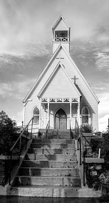 Episcopal Church Of The Messiah In Black And White Poster