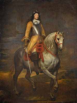 Equestrian Portrait Of A General Of The Holy Roman Empire Poster