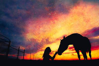 Equine Sunset Poster by Debi Bishop