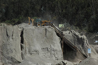 Equipment At A Gravel Pit Poster