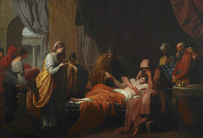 Erasistratus The Physician Discovers The Love Of Antiochus For Stratonice  Poster by Benjamin West