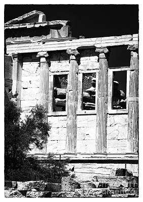 Erechtheum Columns Poster by John Rizzuto