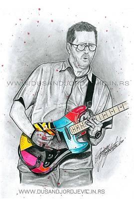 Eric Clapton Poster by Dusan Djordjevic