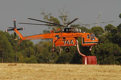 Erickson Air Crane Sikorsky S64e Skycrane N247ac Tanker 744 Poster