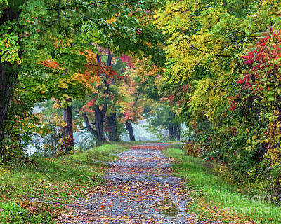 Erie Canal In Fall Poster