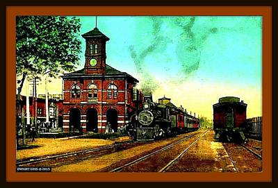 Erie Depot, Elmira N Y, 1905 Poster by Dwight GOSS