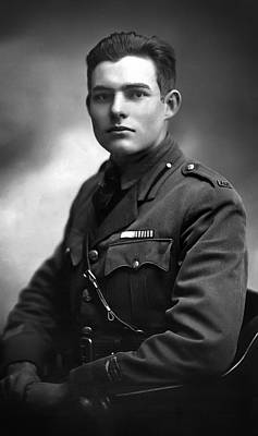 Ernest Hemingway 1918 Poster