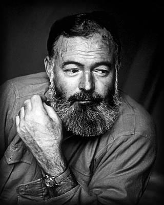 Ernest Hemingway 1944 Poster