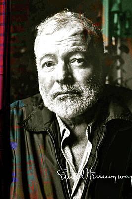 Ernest Hemingway, Signed Poster