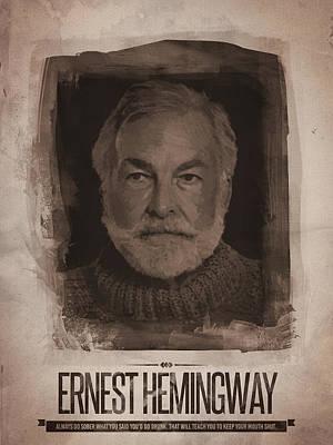 Ernest Hemingway V2 Poster
