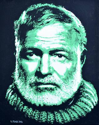 Ernest Hemingway Poster by Victor Minca
