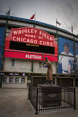 Ernie Banks Wrigley Field Poster by Mike Burgquist