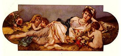 Ernst Rudolf Odalisque Avec Puttis Poster
