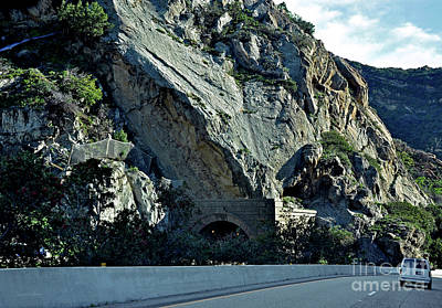 Eroding Hillside And Tunnel Poster