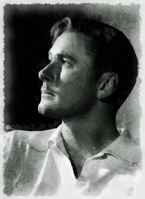 Errol Flynn Vintage Hollywood Actor Poster