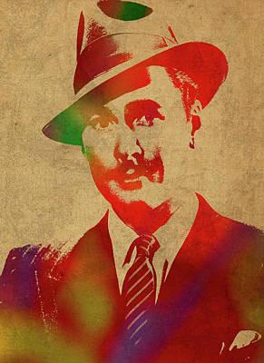 Errol Flynn Watercolor Portrait Poster