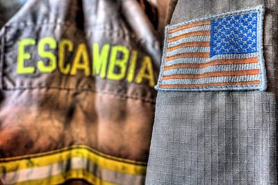 Escambia County Fire And Rescue Poster by JC Findley