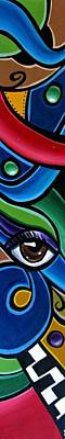 Escape To Venice - Abstract Art Painting, Modern Abstract Eye Art - Ai P. Nison Poster