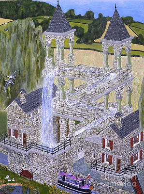 Escher's Mill Landscaped And Painted By Eric Kempson Poster by Eric Kempson
