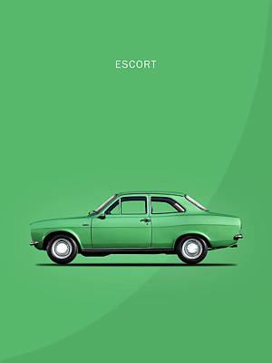 Escort Mark 1 1968 Poster by Mark Rogan
