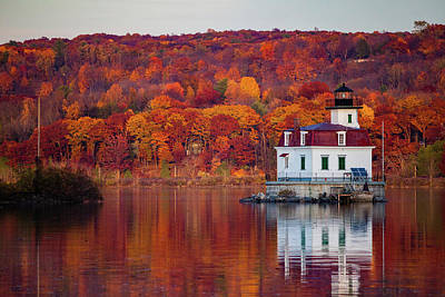Esopus Lighthouse In Late Fall #1 Poster by Jeff Severson