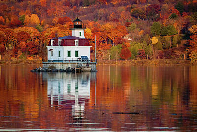 Esopus Lighthouse In Late Fall #2 Poster by Jeff Severson