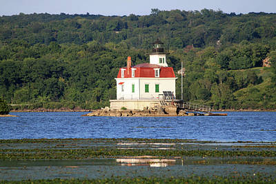 Poster featuring the photograph Esopus Lighthouse In Summer #4 by Jeff Severson