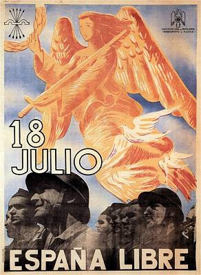 Espana Libre - Vintage Poster Collage Poster