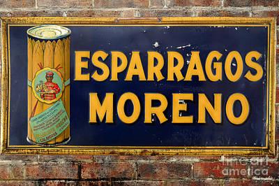 Esparragos Moreno Vintage Metal Sign Poster by RicardMN Photography