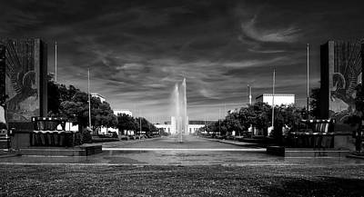 Esplanade And Fountain - Dallas Fair Park Poster by L O C