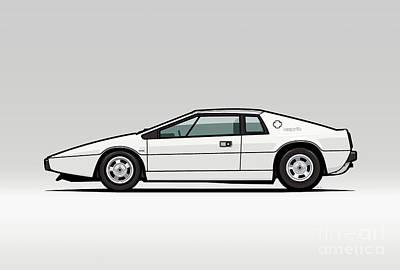Esprit S1 Monaco White 1976 Poster