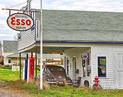 Esso Gas Staion Poster by Jack Schultz