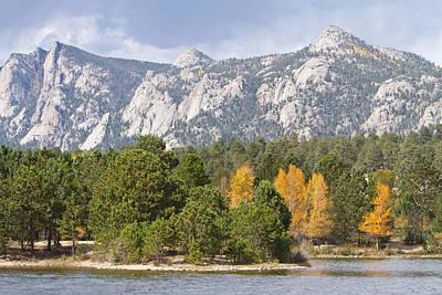 Estes Park Colorful Colorado Autumn Lake View   Poster