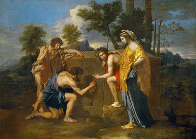 Et In Arcadia Ego Poster by Nicolas Poussin