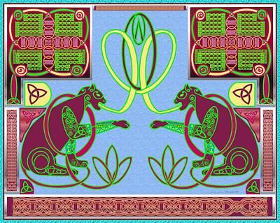 Eternal Celtic Cats Poster