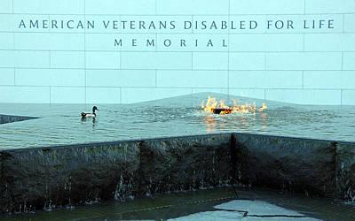 Eternal Flame At Disabled American Veterans Memorial Poster by Cora Wandel
