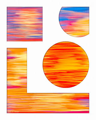 Eternity In A Sunset Poster by Mark E Tisdale