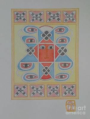 Ethiopian Cherub Talismen Scroll Poster