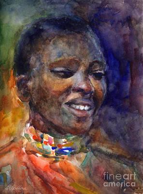 Ethnic Woman Portrait Poster by Svetlana Novikova